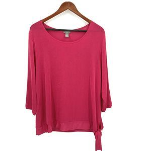 CHICO'S Travelers Pink Slinky Knit Tunic Top 3